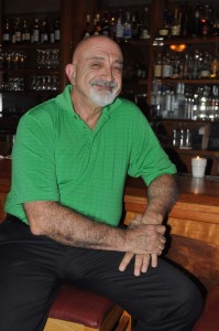 Maurice at the bar at Mezze where he's held court for nearly 14 years.
