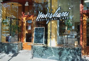 Modigliani Cafe Exterior