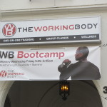 Working Body Bootcamp sign above entry