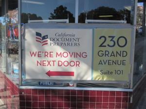 CA Document Preparers moves next door